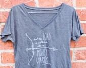 Women's Soft Flowy V-Neck Tee - Bow & Arrow