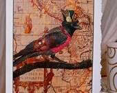 Steampunk Crow Card.