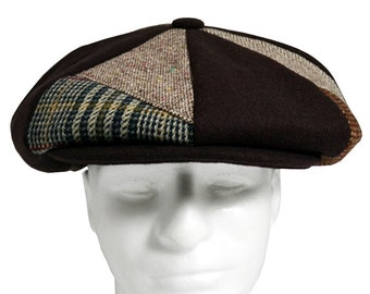 Patch Combo Melton Wool Apple Newsboy Caps Made in USA