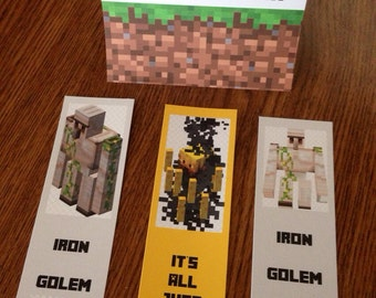 Minecraft chocolate wrapper template party invitations ideas for Minecraft bookmark template