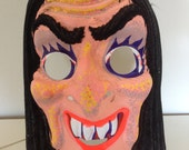 Vintage 1970's 80's witch Halloween mask