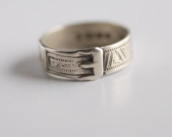 Sterling buckle ring 1878 hallmarked Birmingham
