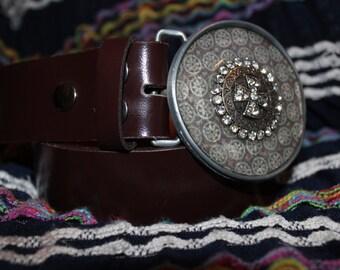 western style circle belt buckle