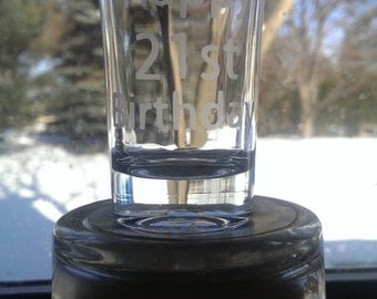 Personalized/Custome Etched Shot Glass