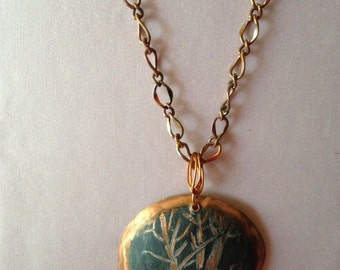 Necklace  copper with color Added and subtracted