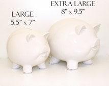 "8"" Custom Piggy Bank, Personalized Piggy Bank - wedding bank, graduation bank, beer fund, gambling fund, kids piggy bank, children's gift"