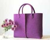Elegant and Casual Felt Bag from Italy, Tote Bag, Felted bag, Market Bag, Felt Tote.