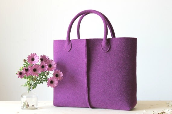 Borse Casual : Elegant and casual felt bag from italy tote felted