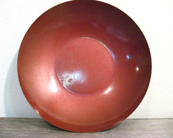Rustic Red Vintage Metal Bowl