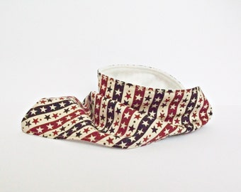 Baby Drool Bandana Dribble Bib Scarf Vintage Stars and Stripes Red and Blue