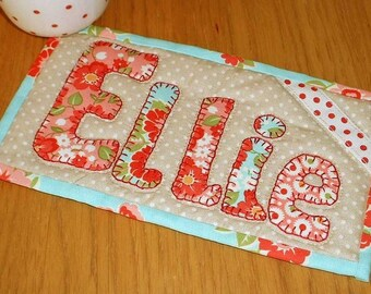 Mug Rug Applique Alphabet Templates - Three Full Sets - for Mug Rugs, Quilts and more.
