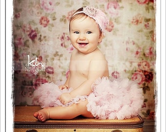 Baby pink petti skirt - light pink tutu - newborn petti skirt - toddler petti skirt - vintage satin petti skirt