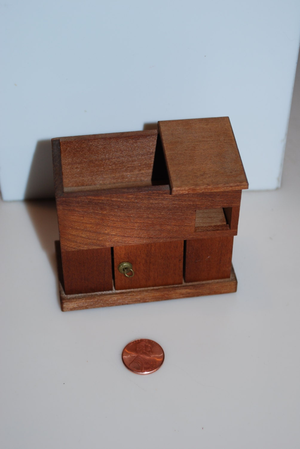 F O Merz Dry Sink Wood Wooden Vintage Dollhouse Miniature Furniture 3 Haute Juice: dollhouse wooden furniture