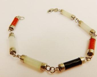 Vintage Sterling Silver Gemstone Bracelet