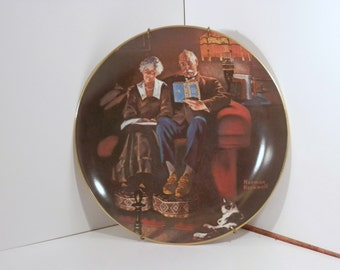 "Norman Rockwell, Knowles collector plate ""Evenings Ease"" Number 3366Q"