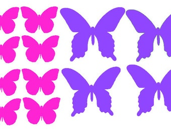 12 Vinyl butterfly wall decals for use indoor or out your choice