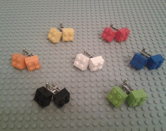 Lego 2x2 brick cufflinks made with new 2x2 Lego bricks  ~ Various colours ~ Lego gift box SOLD SEPARATELY