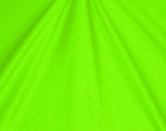 Shiny Stretch Fabric - Neon Lime Fabric, Four way Stretch Spandex Fabric by the Yard