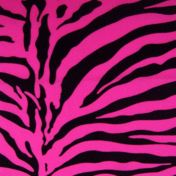 Stretch Fabric Neon Pink Zebra Print Animal Print Fabric