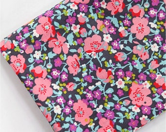 Very Thin Semi-sheer Cotton Fabric Flower Pink