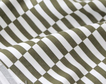 Cotton Fabric Stripe Khaki By The Yard