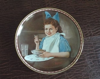 """Norman Rockwell GOOD INTENTIONS Collector's Plate #2821D  8.5"""""""