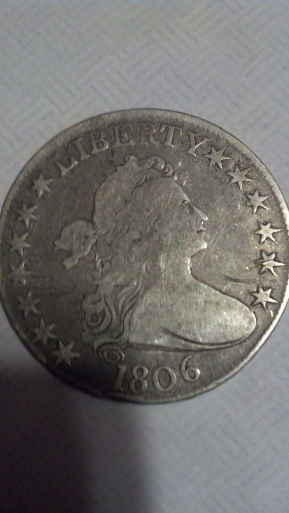 1806 drappedbust half dollar pointed 6 no stem SPECIAL PRICE One Time Only