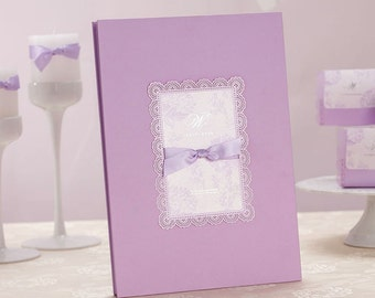 Purple Wedding/Reception Guestbook Signature Album