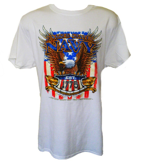 United states navy est 1775 t shirt military by uscustomtees for Custom military unit t shirts