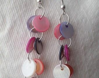 Genuine Handmade Mother-Of-Pearl Drop Earrings