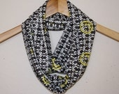 Sherlock Infinity Scarf Featuring the Wallpaper with Smiley Face, Circle Scarf extra long