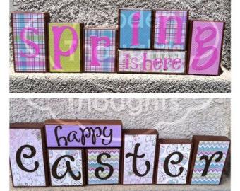 Spring/Easter blocks - reversible