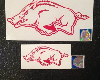 Arkansas Razorback vinyl sticker