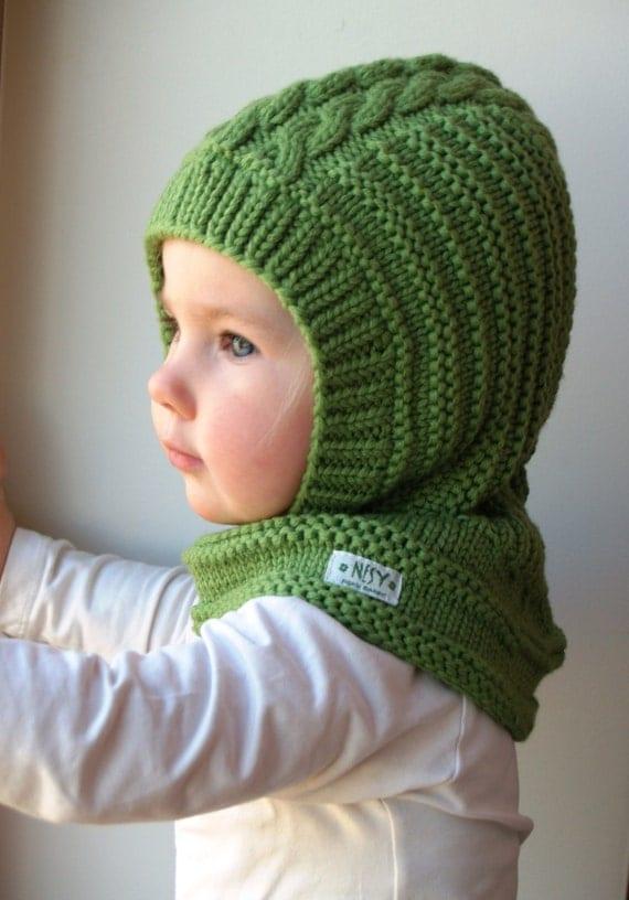 Whippet Balaclava Knitting Pattern : LISTO el BUQUE PARA tamanos 1-3-6-10y Pasamontanas de