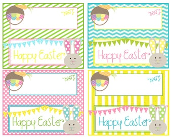 Easter cards etsy easter printables happy easter bag topppers instant download negle Gallery