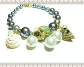 Sea Shell Jewellery~Sea Shell Jewellery Bracelet~Nautical Sea Shell Jewellery Bracelet~Women's Sea Shell Bracelet~Beaded Sea Shell Bracelet~
