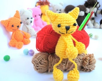 Crochet Amigurumi Cat - Crochet Cat - Cat Doll - Crochet Cat - Amigurumi Animal - Crochet Animal - Soft toy