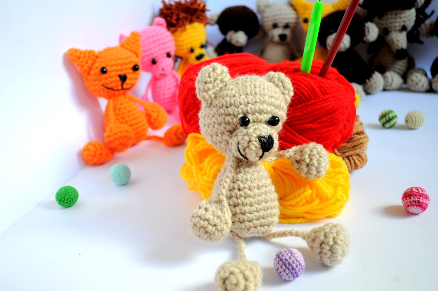 Amigurumi Bear Tutorial : Pattern Teddy Bear Pattern Crochet Tutorial Amigurumi Teddy