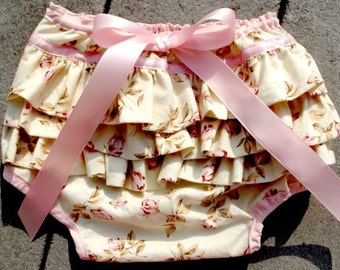 Vintage Inspired Ruffled Diaper Cover