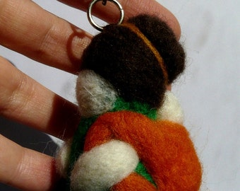 Babywearing Mama Keyring/ Hand felted/ Handmade/ Babywearing/ Carrying/ Love/ Motherhood