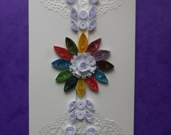 Greeting Card Birthday rolled paper quilling art