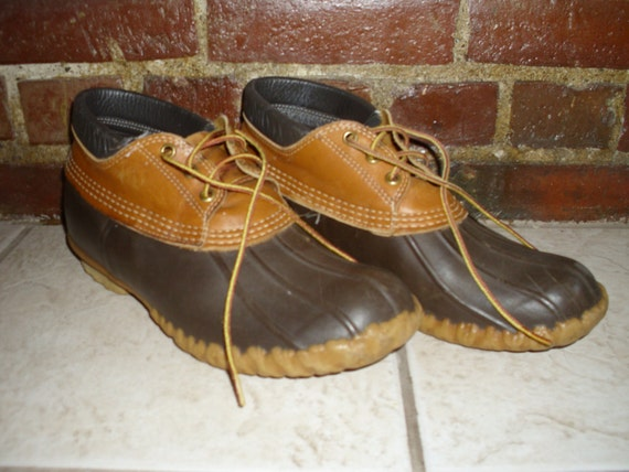 Vintage LL Bean Duck Boots Mens 10 Low Top Style Made in Maine