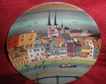 Porcelain Plate France Scenery