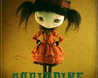Agrippine, OOAK cloth doll, hadmade.
