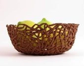 Small Lemon bowl - Handmade  clay serving bowl - on sale