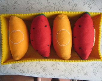 HIRE of watermelon and MELON-fruit game and felt fabric