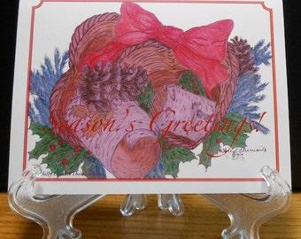 Season's Greetings! - Individual or packaged Christmas Cards - Christmas Art - Handmade Card