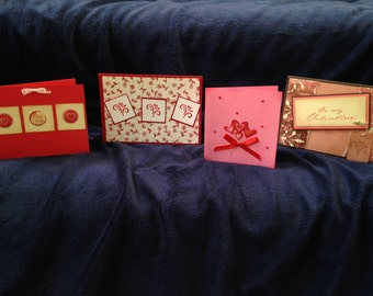 Set of 4 Valentine's Card