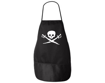 Pirate Apron - Skull and Swords