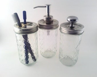 Quilted Mason Jar Apothecary Bath Set